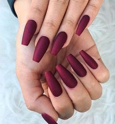 Pure Matte Burgundy Nail Designs ❤️ At first sight, there is nothing special about burgundy nails. But wait until you see our selection, we bet you will not resist these juicy hues! ❤️ See more: naildesignsjourna… – nails. Burgundy Nail Designs, Burgundy Nails, Fall Nail Designs, Burgundy Color, Matte Nail Designs, Nails Design Autumn, Matte Maroon Nails, Cute Acrylic Nail Designs, Elegant Nail Designs