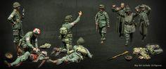 1/35 Scale Resin Model Soldiers Figures kit Big Set 10 Figures UNPAINTED Models #Unbranded