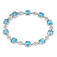 Blue Nile Robert Leser Trinity Blue Topaz and Diamond Bracelet ($1,975) ❤ liked on Polyvore featuring jewelry, bracelets, polish jewelry, blue bangles, tri color bangles, colorful bangles and multi colored jewelry