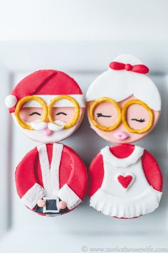 Santa Claus and Mrs. Claus Cupcakes | Sweet Tooth
