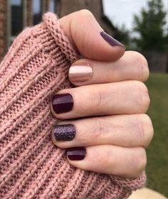 Make Up Inspiration, Nails Inspiration, Nail Color Combos, Nail Colors, Cute Nails, Pretty Nails, Color Street Nails, Mani Pedi, Winter Nails