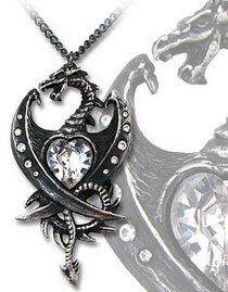 Pendentif ALCHEMY GOTHIC 'diamond heart'