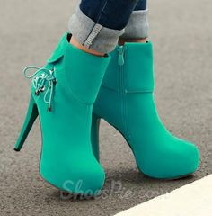 Graceful Lace-Up High Heels Ankle Boots