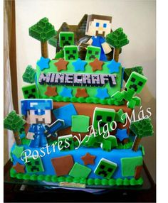 Torta de Minecraft - Minecraft Cake