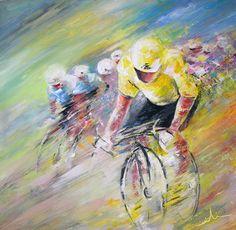 #cycling #art #paintings Yellow Triumph