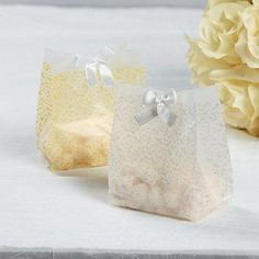 9f8ef1f03a8a Four Dozen Frosted Gold Vellum Paper Wedding Favor Bags Wedding Party  Supplies Wedding Gift Wrap