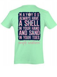Simply Southern Shell and Sand Tee - Green from Chocolate Shoe Boutique