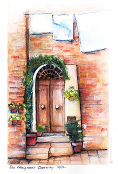 Doorway in San Gimignano, Italy by disco-mouse on deviantART