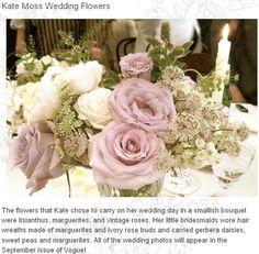 kate moss wedding flowers