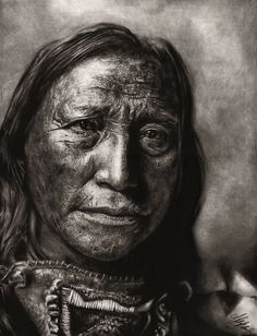 beautiful native american portrait paintings   Native American by *Blacleria on deviantART