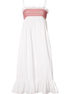 LISA MARIE FERNANDEZ pleat trim flared dress. #lisamariefernandez #cloth #dress