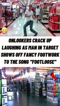 #Onlookers #crack #laughing #man #Target #shows #off #fancy #footwork #song #Footloose