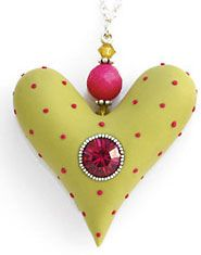 mary_mary_lime_heart by cynthia tinapple, via Flickr, I like the idea of doing these as Christmas ornaments.