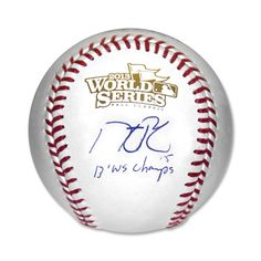 Autographed Baseball - Dustin Pedroia - 2013 World Series Champs