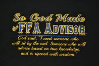 God Made FFA Advisor Front of T-Shirt - Cajun Bling Livestock Shirts