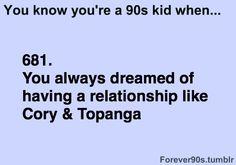 love like Cory and Topanga