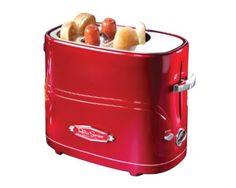Amazon.com: Nostalgia Electrics HDT-600RETRORED Retro Series Pop-Up Hot Dog Toaster: Kitchen & Dining