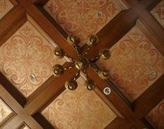metalic faux paint ceiling coffer | Showcase > Ceilings > Custom Coffers