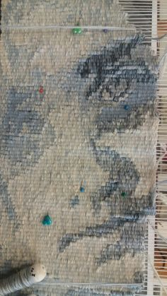 Work under construction - loosing childhood, tapestry cotton and wool, by Manuel Wandl 2017 Tapestries, Macrame, Vintage World Maps, Weaving, Childhood, Fabrics, Construction, Wool, Cotton