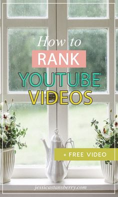 Lets learn how to rank YouTube videos because that will grow your channel quicker than ANYTHING!  Have you ever wanted to know how to rank youtube videos higher in search results? Im comin at ya today with all kinds of tips and tricks. #youtube #video #videotips #contentmarketing #youtubetips