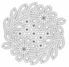Lace doily pattern (may be adapted for crochet)