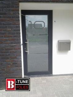 Voordeur raamfolie, huisnummer 10