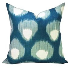 This custom listing is for the up-charge to make existing order of 4- 20 x 20 pillow covers with the Bukhara Blue/Blue fabric ON BOTH SIDES.