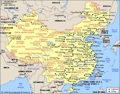 map of china city physical province china is a communist state ...