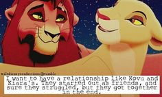 And she totally loves him even when Simba says that Kovu is only pretending to love her.