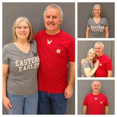 Lowell & Mina Simonsen modeling some new EWU gear during Campus Celebrity Couples week.  Carhartt Tee: $29.00