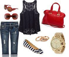 Red, White and Cute!, created by rhinicole on Polyvore