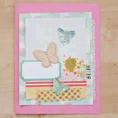 Butterflies Card by maggie holmes > @Studio_Calico August Kits