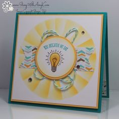 You Brighten My Day 2 - Stamp With Amy K Love the sunburst around the stamped circle. Tutorial on site on how to do it! Bird Free, Paper Craft Making, Friendship Cards, Animal Party, Stamping Up, Cute Cards, Homemade Cards, Stampin Up Cards, Cardmaking