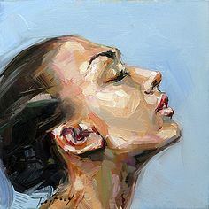 Jurij Frey: Model - A Level Art Sketchbook - Abstract Portrait Painting, Portrait Art, Painting & Drawing, Portrait Paintings, Acrylic Paintings, Art Paintings, Abstract Art, Knife Painting, Pencil Portrait