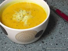 Pumpkin & Sweet Potato Soup ... leave out cheddar for true Paleo or dairy free.