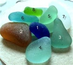 an explanation of important features in real beach glass and a 5-grade quality scale
