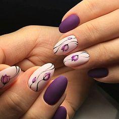 Summer Gel Nails, Spring Nails, Soft Nails, Fun Nails, Nail Designs Spring, Nail Art Designs, Nail Manicure, Nail Polish, Flower Nail Art