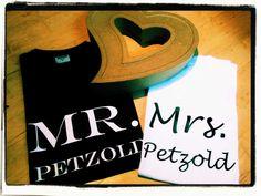 T-Shirt Set Geschenk für Hochzeit von DoppelD-Druck&Design auf DaWanda.com