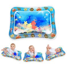 Inflatable Tummy Time Water Play Mat Keten Tummy Time Leakproof PVC Water Filled Playmat for Children and Infant Fun Activity Play Center Your Babys Stimulation Growth 26 x 20 Décor Seats Bags-Togs Gyms Play Sets-Swings Gear Seats-Accessories Seats Water Play Mat, Best Baby Toys, Play Centre, Tummy Time, Baby Play, Baby Accessories, Clothing Accessories, Toddler Toys, Fun Activities