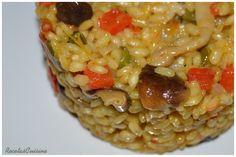 Receta Arroz con Verduras y Setas Autor RecetasCuisine Raciones 2 Tiempo 45 minutos (aprox.) Ingredientes ½ Cebolla 1 diente de Ajo Aceite de oliva ½ Pimie