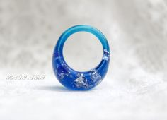 Ring resin,  rings size 5, Resin ring colored resin, gold flakes  and glitter…