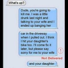 Vom Sinn befreiter Picdump <<<< It didn't deliver. that's not gonna end well. Funny Texts Crush, Funny Text Fails, Funny Text Messages, Funny Memes, Hilarious, Funny Humour, Stupid Funny, Text Memes, Fun Funny
