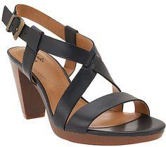 Clarks Leather Multi Strap Sandals - Jaelyn Fog