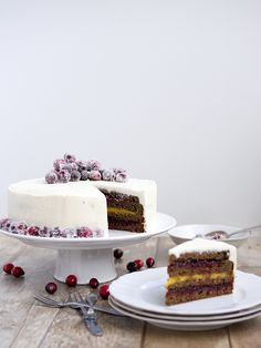 Picture of Recept - Perníkový dort Czech Recipes, Pavlova, Something Sweet, Sweet Life, Vanilla Cake, Holiday, Christmas, Cheesecake, Cupcakes