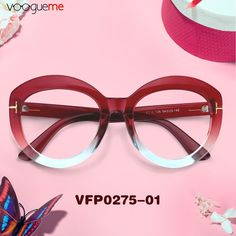 7dda805cd6d Michelle Cat Eye Red Eyeglasses These cat eye glasses are made of durable  plastic material with