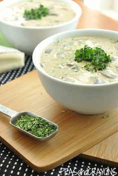 Creamy Mushroom Brie Soup - Be careful with the beans but as a whole in the recipe they would be okay.