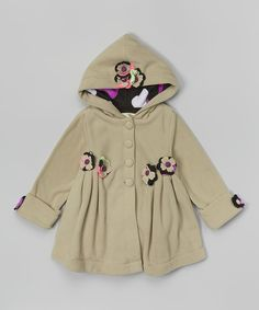 Look what I found on #zulily! Maria Elena Cream & Plum Floral Fleece Swing Coat - Toddler & Girls by Maria Elena #zulilyfinds