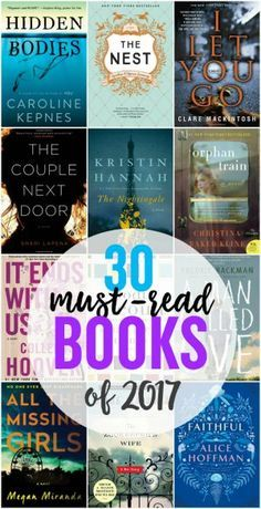 30 Must-Read Books for 2017 - Looking for some awesome books to enjoy this year? Check out our list of 30 books you should read in 2017 to find your next book!