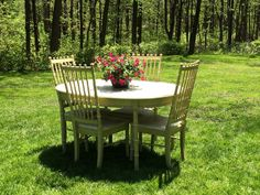 Vintage Thomasville Faux Bamboo 5 Piece Dining Set By CottageBlu