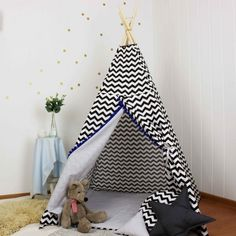 Namiot Tipi Teepee czarno biały Organization, Room, Home Decor, Getting Organized, Bedroom, Organisation, Decoration Home, Room Decor, Tejidos
